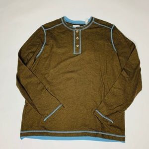 Tommy Bahama Sweater Large  Grand Thermal Henley